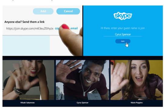 Skype : un lien suffit pour rejoindre une discussion