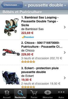 l'application iphone d'amazon france
