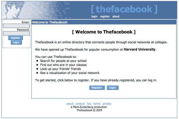 Facebook en 2003