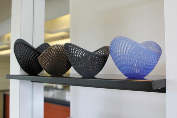Des bols imprimés en 3D avec des matériaux très différents