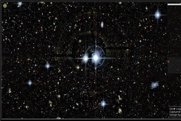 CFHT Deep Field 1, photo du ciel
