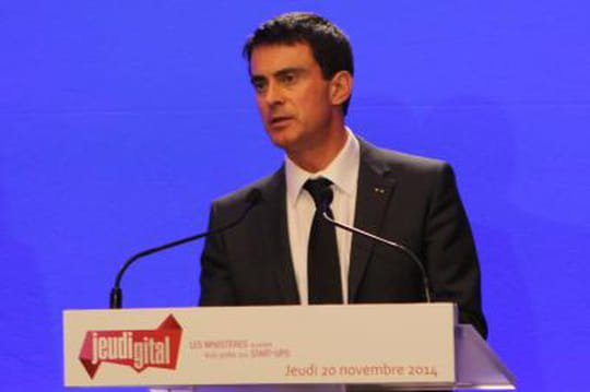 Jeudigital : Manuel Valls reçoit six start-up à Matignon