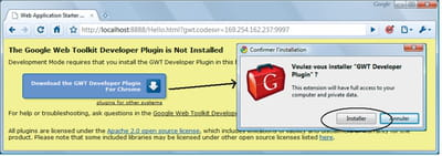 figure 1-5 - installation du plug-in gwt pour google chrome.