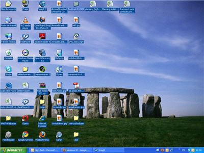 l'interface de windows xp, pas si démodée que ça.