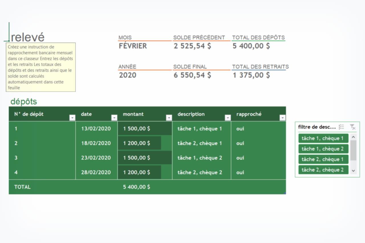 Rapprochement bancaire : définition, exercice, modèle pdf ...