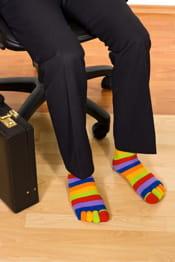 porter des chaussettes de couleur n'est pasà la portée de tous..