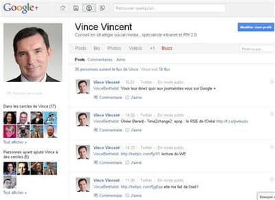 profil google plus de vincent berthelot