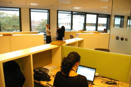 Des bureaux ouverts