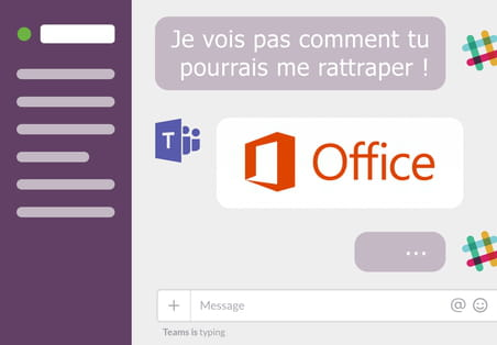 Comment Microsoft Teams a gagné la bataille contre Slack en France