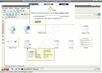 l'accès aux documents personnels depuis online desktop