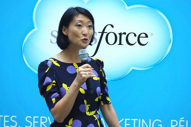 Fleur Pellerin salut l'investissement de Salesforce en France
