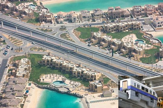 Un monorail pour l'île Palm Jumeirah