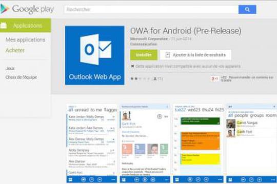 Outlook Web App arrive sur Android