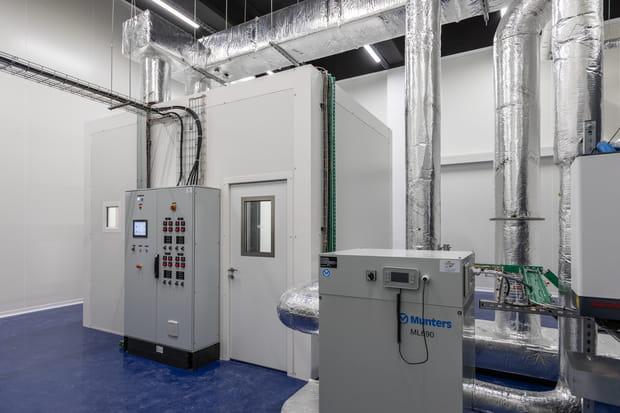 Une chambre climatique pour tester les baies