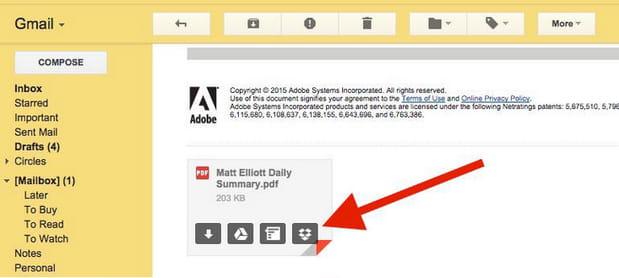 Dropbox for Gmail vous fait gagner de l'espace et du temps en intégrant votre Dropbox à vos e-mails