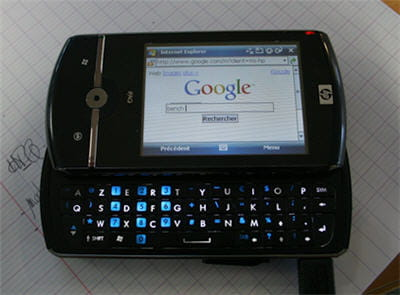 equipé d'internet explorer mobile