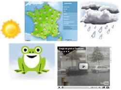 la météo sur internet.