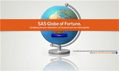 globe of fortune de scandinavian airlines sweden.