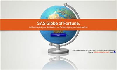 globe of fortune de scandinavian airlines sweden.