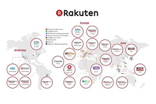 Comment Rakuten étend à la planète son conglomérat de services Web