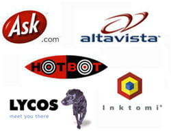 les logos de quelques concurrents de google