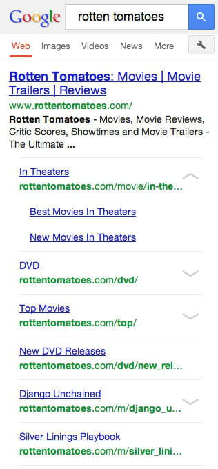 google seo mobile rotten tomatoes new