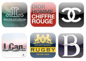 icônes d'applications iphone de marques de luxe