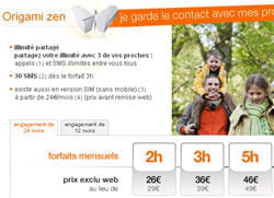copie d'écran du site web d'orange