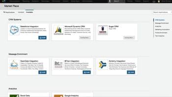 la marketplace de sprinklr liste les applications pouvant s'intégrer à l'outil