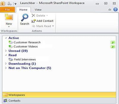 sharepoint workspace 2010 s'avère bien pratique pour collaborer mais est