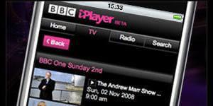 le service iplayer on mobile de la bbc