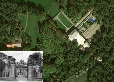 une vue aérienne du château de lagoy.