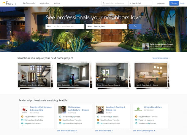 porch screenshot homepage