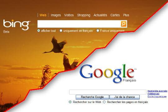 Bing contre Google : le match