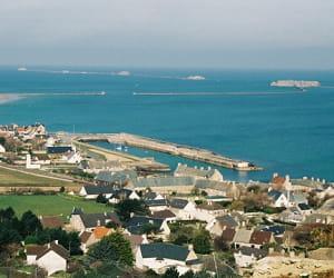 une vue de tourlaville, en basse-normandie.