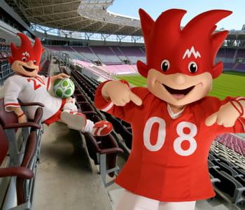 les mascottes de l'euro 2008.