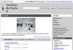 l'application en ligne google groupes