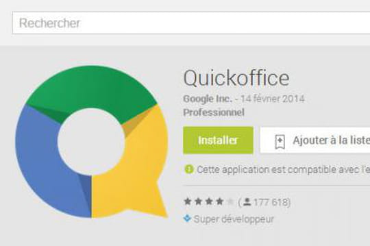 Bureautique sur mobile : Google arrête Quickoffice