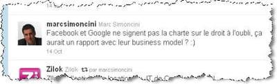 son tweet sur la stratégie de google.