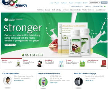 amway est le 1er e-marchand us de la catégorie 'santé et beauté'