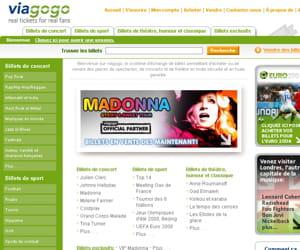 une capture d'écran du site viagogo.com.