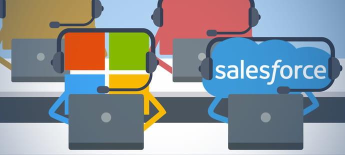 Face à Salesforce, Microsoft contre-attaque dans les bots de relation client
