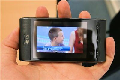 la télévision en direct sur le lg gt540