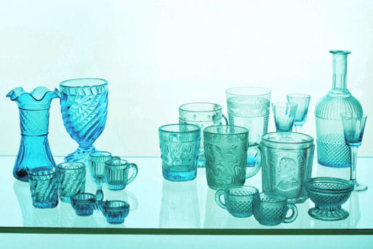 Collection verre bleu