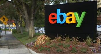 devant le siège d'ebay, à san josé, en californie.