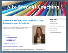 capture d'écran du site d'alix grandel.