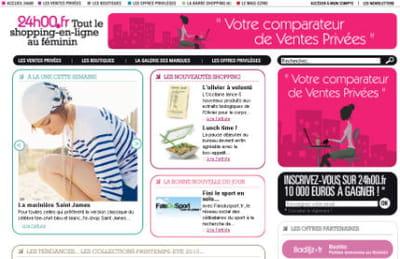 24h00.fr adopte le même graphisme que les magazines féminins online