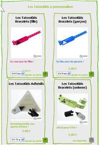 une gamme limitée de cinq bracelets et adhésifs
