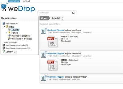 wedrop relie le monde du stockage 2.0 à celui de la ged