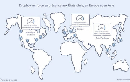 Comme AWS, Dropbox déploie un réseau mondial de points de présence